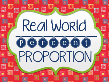 Percent proportions game teaching resources teachers pay teachers real world percent proportion real world percent proportion fandeluxe Image collections