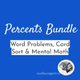 Real World Percents: Word Problems, MultiStep & Mental Mat