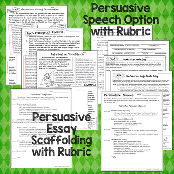 Persuasive Essay or Speech - Current, Real-World Prompt!