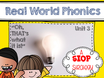 Real World Phonics for Reading Wonders 1st grade {Unit 3}