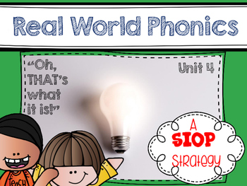 Real World Phonics for Reading Wonders 1st grade {Unit 4}