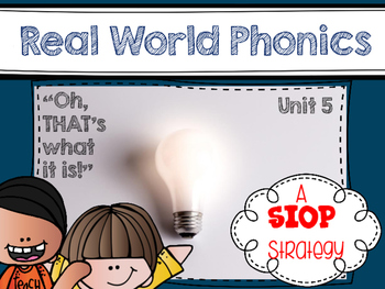 Real World Phonics for Reading Wonders 1st grade {Unit 5}
