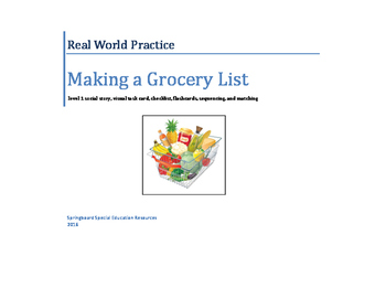 Real World Practice: Making a Grocery List (Grocery Shopping: Level 1)
