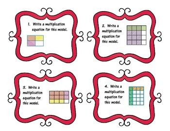 Task Cards -Multiplying Fractions -Real World Problems -{MAFS.5.NF.4}