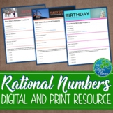 Rational Number Word Problems - Digital and Print - Google Forms