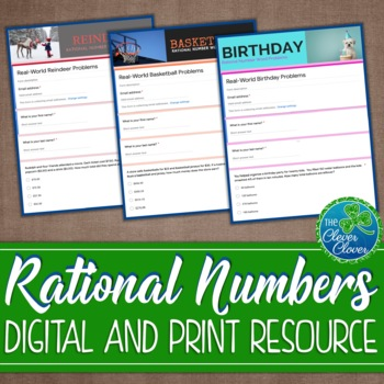 Rational Numbers Word Problems Worksheets