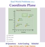 Real World Problems on a Coordinate Plane 5th Grade Math Q