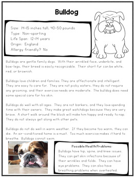 Opinion Writing and Real World Research- The Perfect Dog