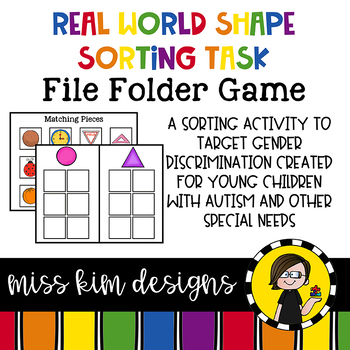 Real World Shape Sorting Folder Game for Early Childhood Special Education