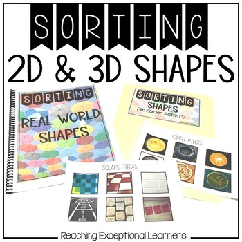 Real World Shapes- Sorting Book- Special Education