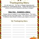 Thanksgiving Math Budget Activity - Real World