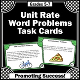 Unit Rate Word Problems, 6th Grade Unit Rate Task Cards