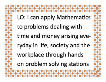 Real World Word Problems Money and Time