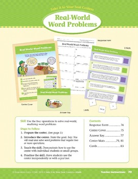 Real-World Word Problems (Take It to Your Seat Centers Common Core Math)
