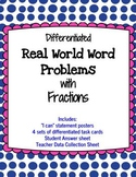 Real World Word Problems with Fractions