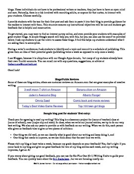 Real World Writing Unit (Blogs)