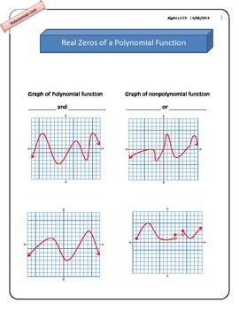 Real Zeros of a Polynomial Function