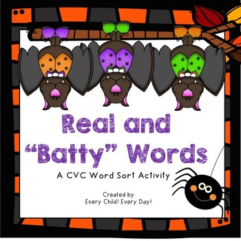 "Halloween - Real and ""Batty"" (Nonsense) Words"