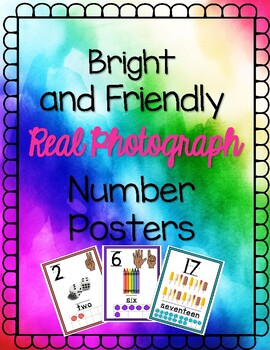 Real and Bright Numbers 1-20 Posters