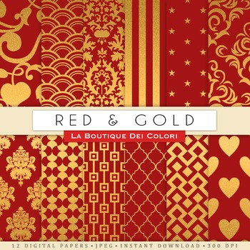 Real and Gold Digital Paper, scrapbook backgrounds