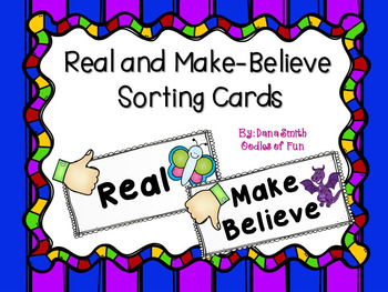 Real And Make Believe Worksheets For Kindergarten