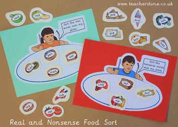 Real and Nonsense Food Sort