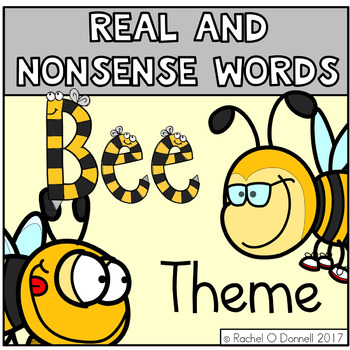 Real and Nonsense Words Bee Theme