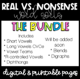 Real and Nonsense Sorts Bundle (digital and paper)