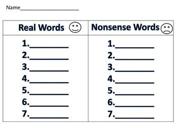 Real and Nonsense Word CVC Snowman Word Work Literacy Daily 5 Activity