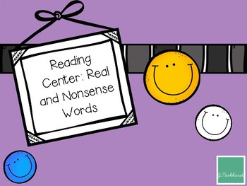 Real and Nonsense Word Center FREEBIE