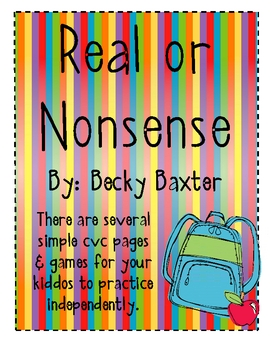 Real and Nonsense Word Pack