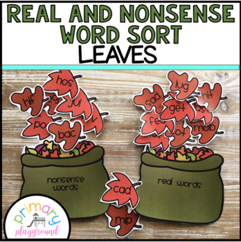 Real and Nonsense Word Sort Autumn Leaves