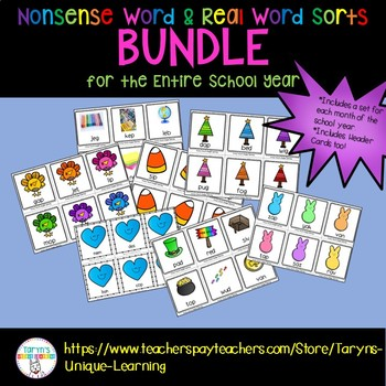 Real and Nonsense Word Sort Bundle