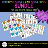 Nonsense Words and Real Words Sort- Year Long Bundle