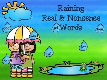 Real and Nonsense Word Sort (CVC Words)