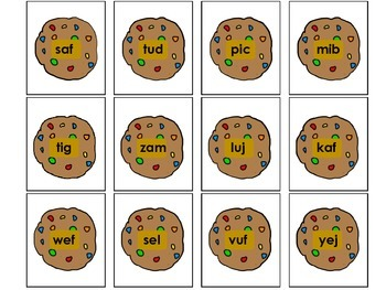 Real and Nonsense Word Sort Cookie Theme