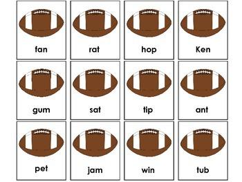Real and Nonsense Word Sort -Football