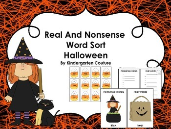 Real and Nonsense Word Sort Halloween