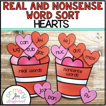 Real and Nonsense Word Sort Hearts