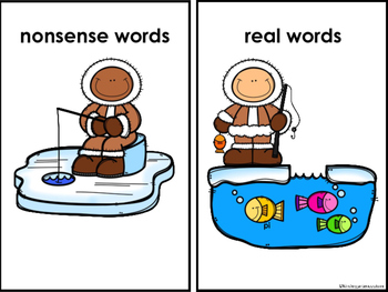 Real and Nonsense Word Sort - Ice Fishing