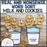 Real and Nonsense Word Sort Milk and Cookies