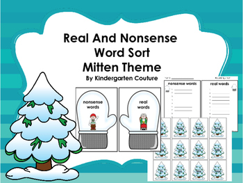 Real and Nonsense Word Sort - Mitten