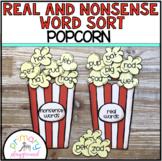 Real and Nonsense Word Sort Popcorn