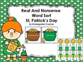 Real and Nonsense Word Sort -St.Patrick's Day