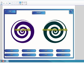 Real and Nonsense Word Sorts - SMARTBoard Vortex -Free