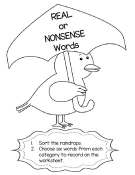 Real and Nonsense Words