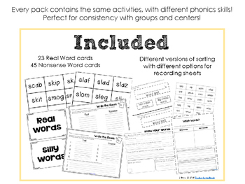Real and Nonsense Words: BLENDS BUNDLE