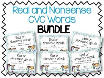 Real and Nonsense Words: CVC BUNDLE
