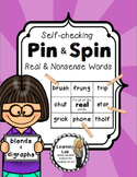 Real and Nonsense Words (Blends and Digraphs) - Self-Checking Reading Centers
