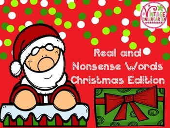 Real and Nonsense Words - Christmas Edition